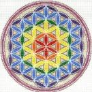 7140 Rainbow Flower of Life Needlepoint Canvas