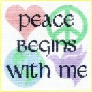 7133 Peace Begins With Me Needlepoint Canvas