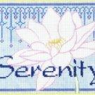 7137 Serenity Needlepoint Canvas