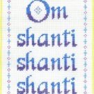 7135 Om Shanti Needlepoint Canvas