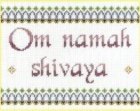 7136 Om Namah Shivaya Needlepoint Canvas