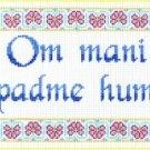 7141 Om Mani Padme Hum Needlepoint Canvas