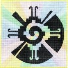7132 Hunab Ku Symbol Needlepoint Canvas