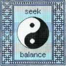 7102 Yin Yang Needlepoint Canvas