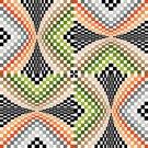 6268 Optical Geometric Needlepoint Canvas