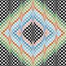6264 Optical Geometric Needlepoint Canvas