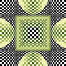 6249 Optical Geometric Needlepoint Canvas