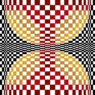 6258 Optical Geometric Needlepoint Canvas