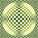 6254 Optical Geometric Needlepoint Canvas