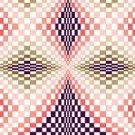 6255 Optical Geometric Needlepoint Canvas
