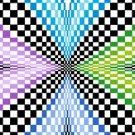 6257 Optical Geometric Needlepoint Canvas