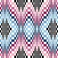 6263 Optical Geometric Needlepoint Canvas