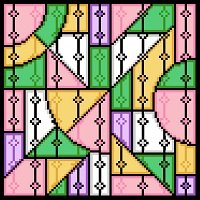 6229 Geometric Abstract Needlepoint Canvas
