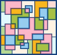 6233 Geometric Abstract Needlepoint Canvas