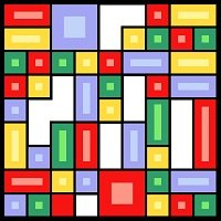 6227 Geometric Abstract Needlepoint Canvas