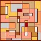 6234 Geometric Abstract Needlepoint Canvas