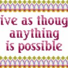 6163 Sayings Needlepoint Canvas