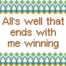 6196 Sayings Needlepoint Canvas