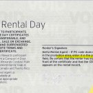 5 Hertz Free Rental Day Certificates
