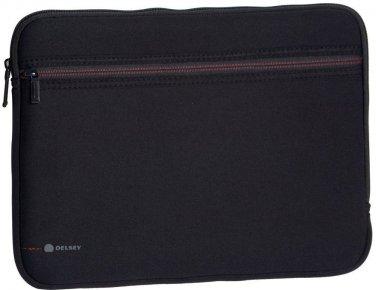 Black Laptop Sleeve by Delsey Size 15.6 Neoprene