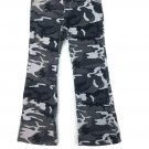 NEW The Children's Place Girls CAMOUFLAGE Pants Size 6 Camo Gray Corduroy
