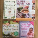 Baby Food Cookbooks Organic Baby and Toddler Meals Wholesome Baby Food Guide