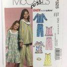 MacCall's Girls Pajamas Sewing Pattern Sizes 7 8 10 12 14 Uncut