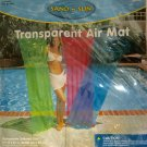 NEW Swimming Pool INFLATABLE AIR MAT Lounger Float Transparent Blue 6 Foot Tall