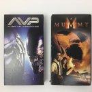 2 Horror Adventure Movies on VHS Alien Vs Predator and The Mummy