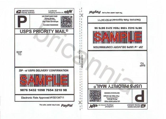 1800 Half sheet self adhesive shipping labels 8.5 x 5.5 USPS CLICK N SHIP PAYPAL
