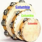 Tambourines Set of Three (3) - Single & Double Row Jingles