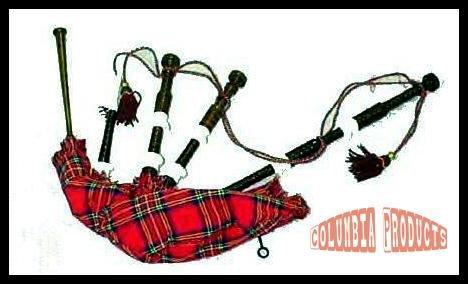 Scottish Bagpipe Rosewood Black