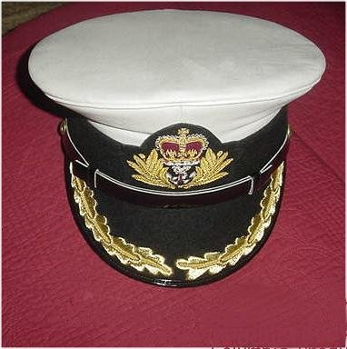 ROYAL NAVY OFFICERS HAT CAP CAPTAIN WHITE NEW ANY SIZE