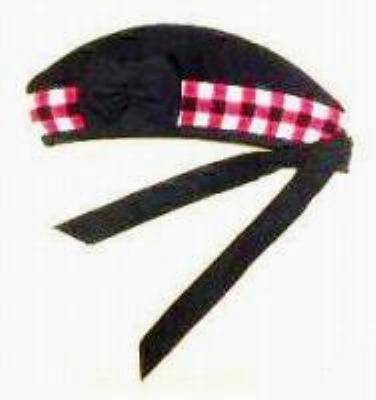 CP Brand Irish - Scottish Glengarry Hat Blk/Red/White Dice - Free Shipping
