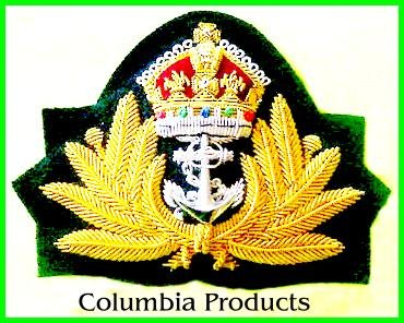 ROYAL NAVY OFFICER HAT CAP CAPT. Bullion Badge KING NEW - CP Brand By COLUMBIA PRODUCTS