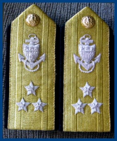 CP Brand NEW US COAST GUARD Shoulder Boards VICE ADMIRAL 3 Stars Rank, By COLUMBIA PRODUCTS
