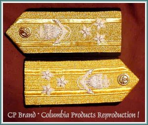 CP Brand NEW US NAVY Hard Shoulder Boards VICE ADMIRAL 3 Stars Rank By COLUMBIA PRODUCTS