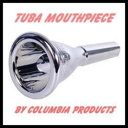 Tuba Mouth Piece - New Excellent Quality & Fit - Silver Plated