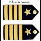 US NAVY Hard SHOULDER BOARDS For CAPTAIN Rank CP Brand