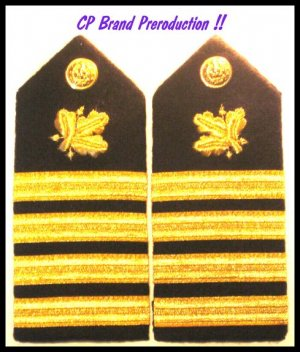 NEW US NAVY HARD Shoulder Boards CAPTAIN Supply Corp
