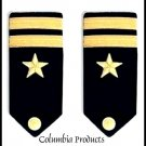 NEW US NAVY HARD Shoulder Boards LIEUTENANT Rank (CP)