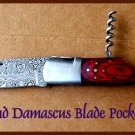 CP Brand Damascus Blade Pocket Knife - New - FREE SHIP