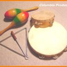 MARACAS * 2 TAMBOURINES * TRIANGLE * NEW DEAL *