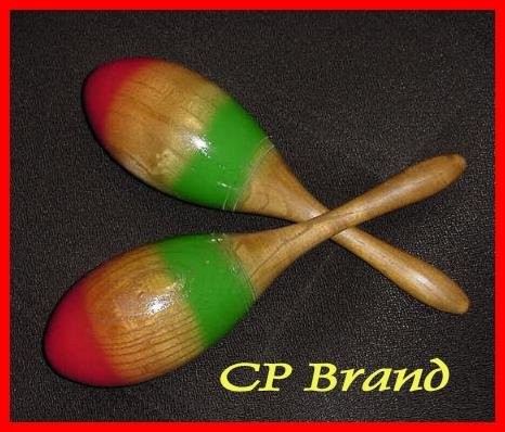 NEW WOODEN MARACAS PAIR SMALL SIZE CP BRAND 1st Quality