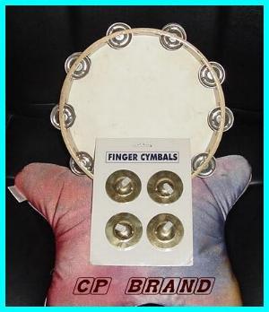CP BRAND ZILLS FINGER CYMBALS & TAMBOURINE SET NEW DEAL