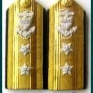 NEW US COAST GUARD Shoulder Boards REAR ADMIRAL 2 Stars