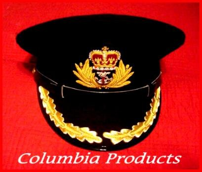 ROYAL NAVY OFFICERS BLACK HAT CAP CAPTAIN NEW Size 55