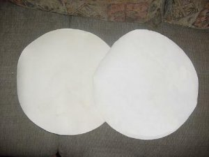 """Two New 20"""" Dia Natural Calf Skin Heads * 1st Quality *"""