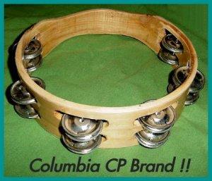"CP TAMBOURINES Double Row Jingles HEADLESS 8"" Free Ship"