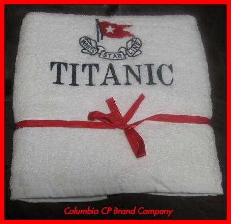 NEW TITANIC FIRST CLASS PASSENGERS BATH TOWEL FREE SHIP